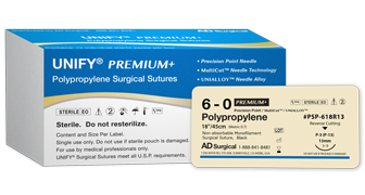 Premium Polypropylene, Size 4-0, 19mm 3/8 cir R/C