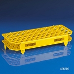 Rack, Microcentrifuge Tube, 100-Place, PP, Yellow