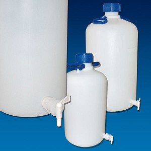 Carboy with Spigot, HDPE, Heavy-Duty, 50 Liter
